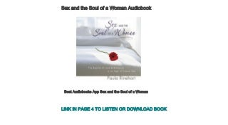 Best Audiobooks App Sex and the Soul of a Woman
