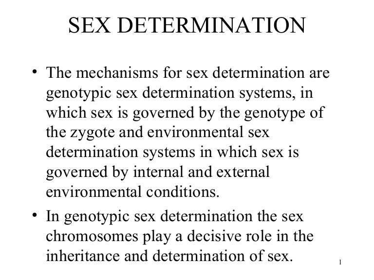 analysis of hereditary determination of sex A method for the determination of genetic sex in the fathead minnow, pimephales promelas, to support testing of endocrine-active chemicals article in.
