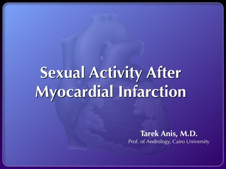 Sexual activity and cardiovascular disease