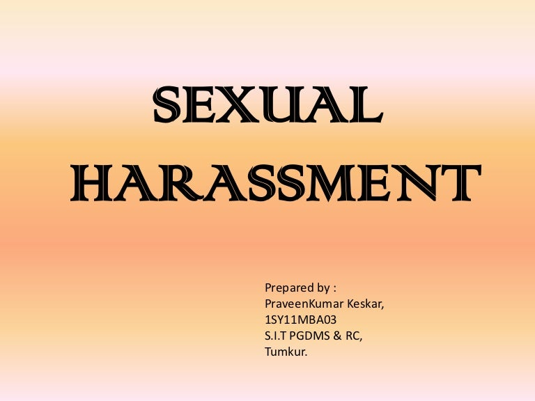 Sexual harassment act slideshare download