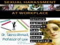 Sexual Harassment of Women at Work Place