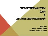 CNF & Leftmost Derivation - Theory of Computation