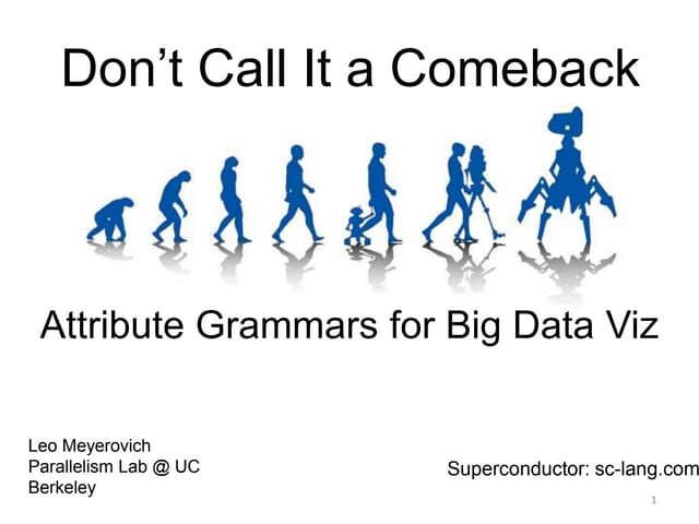 Don't Call It a Comeback: Attribute Grammars for Big Data Visualization