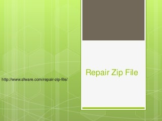 How to Repair a Broken Zip File