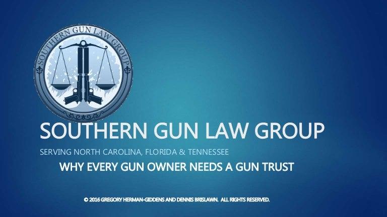 Gun Trust Considerations in North Carolina