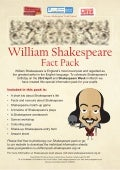 Shakespeare factpack lives