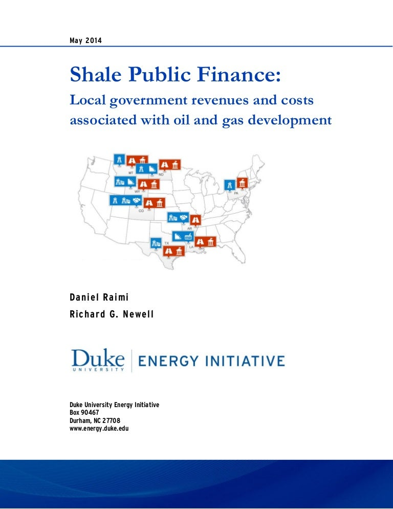 Duke Research: Shale Public Finance - Local Revenues and Costs