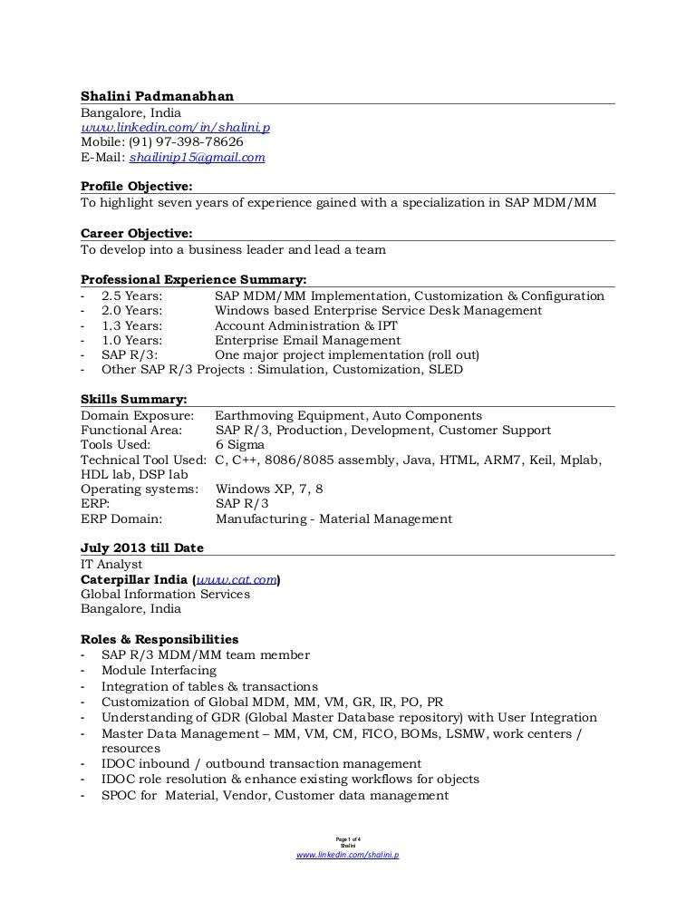 attractive sap sd resume 3 years experience collection example