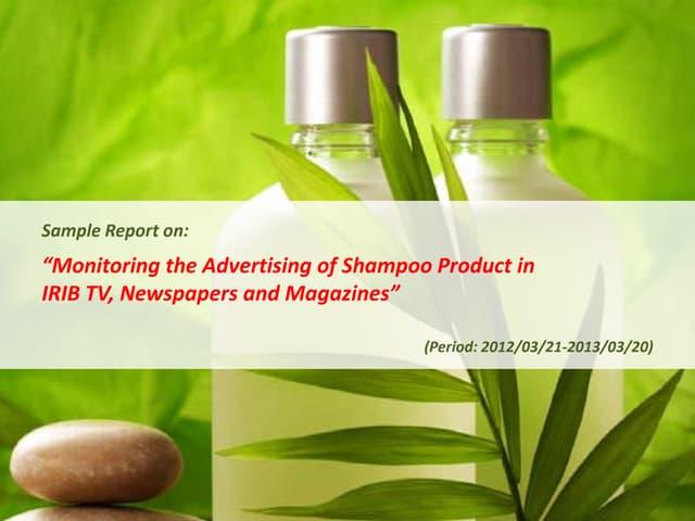 Emrooz Marketing Research Co. (EMRC) - Media Monitoring - Shampoo Sample Report