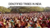 Denotified Tribes in India
