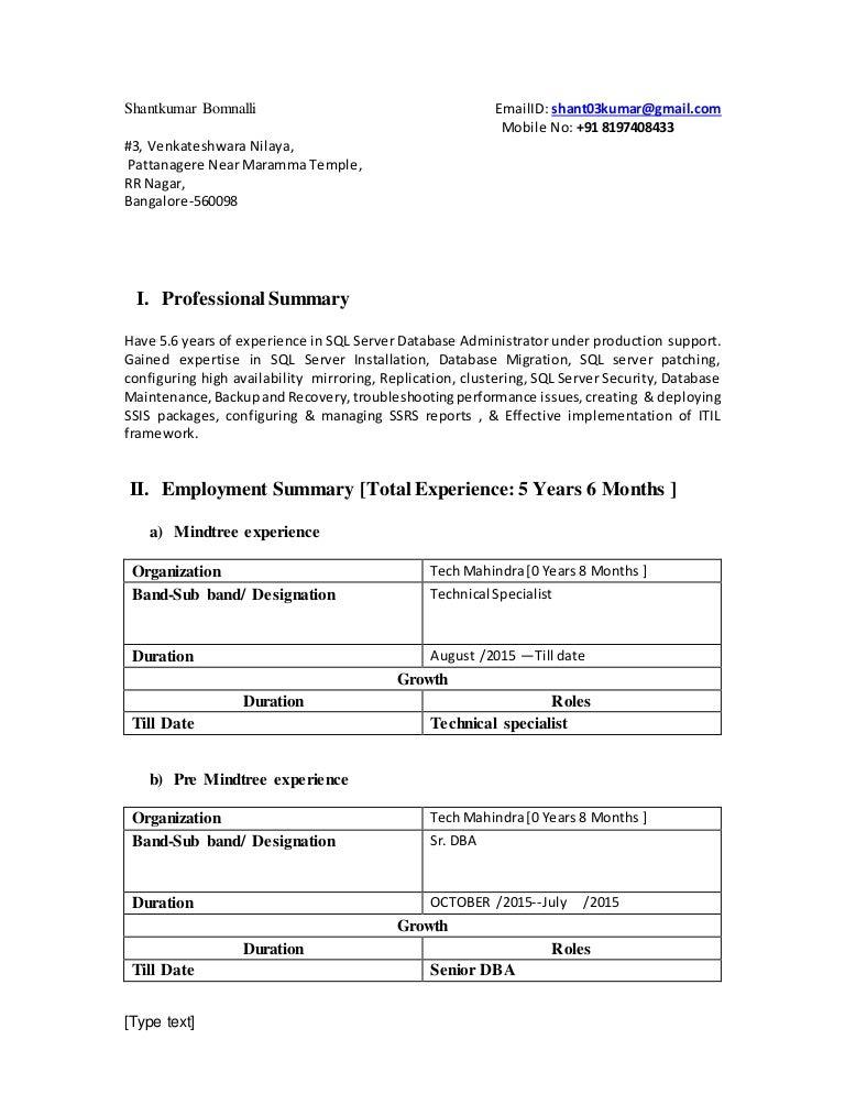 Analyst Programmer Resume samples