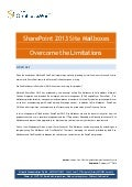 SharePoint 2013 Site Mailboxes - Overcoming the Limitations