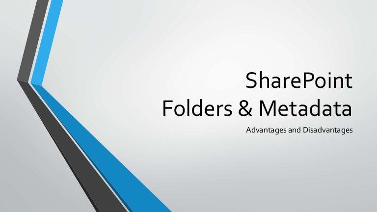 SharePoint Folders & Metadata