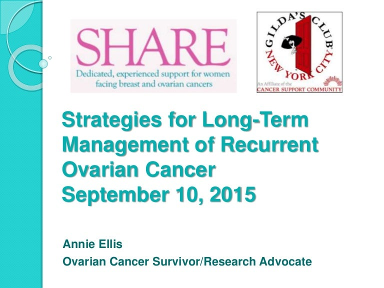 Patient Perspective On Strategies For Long Term Management Of Recurre