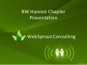 Singapore BNI Harvest WebSprout Consulting Showcase
