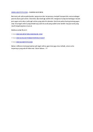 togel situs resmi