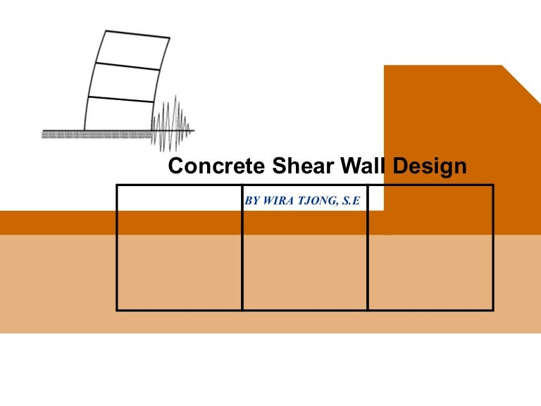 Concrete shear wall design