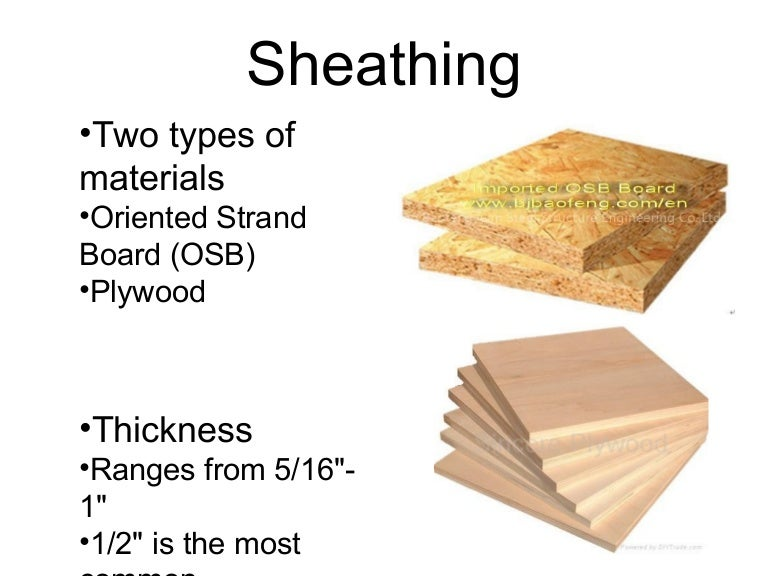 Sheathing materials for Exterior wall sheathing types