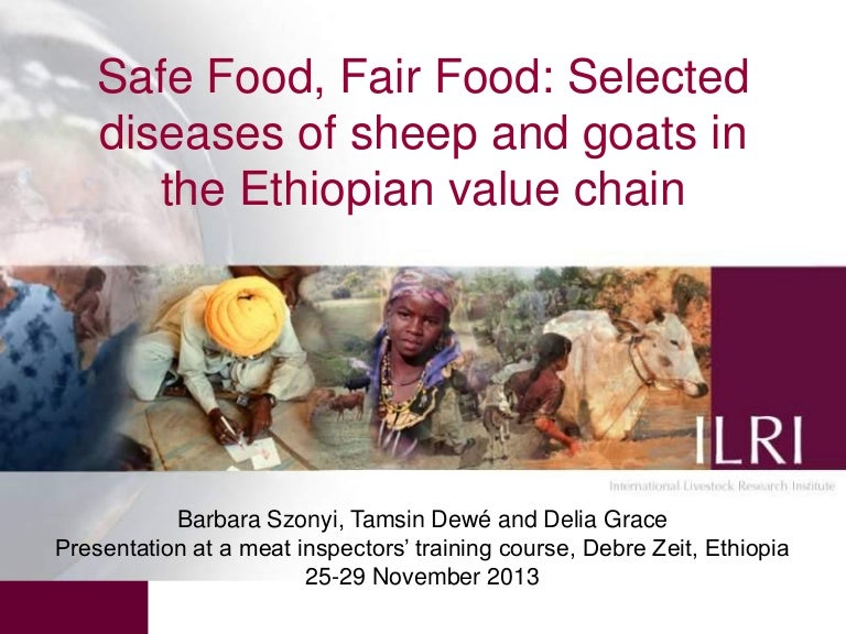 Selected diseases of sheep and goat in the Ethiopian value chain