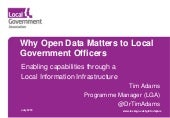 Sheffield   why open data matters to local government officers - tim adams lga