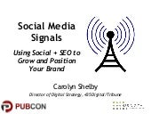 Using Social Media + SEO to Grow and Position Your Brand
