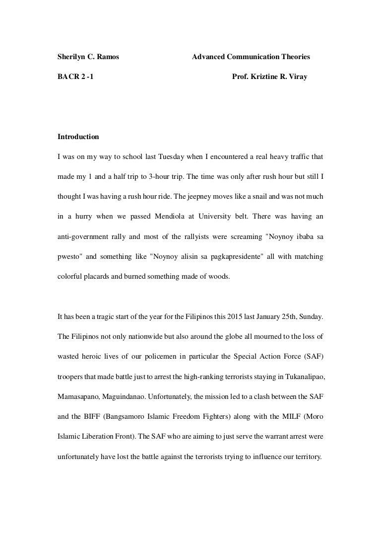 mamasapano clash essay