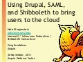 Leverage Drupal, Shibboleth, and OpenSAML to Connect Federated Identity to the Cloud