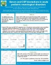 Serum and CSF biomarkers in acute pediatric neurological disorders