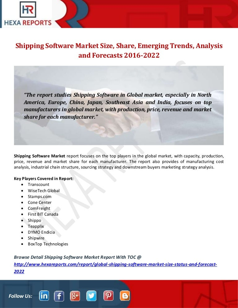 Shipping software market size, share, emerging trends, analysis and f…