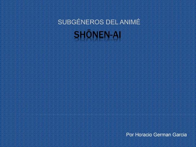 Shōnen ai. horacio german garcia