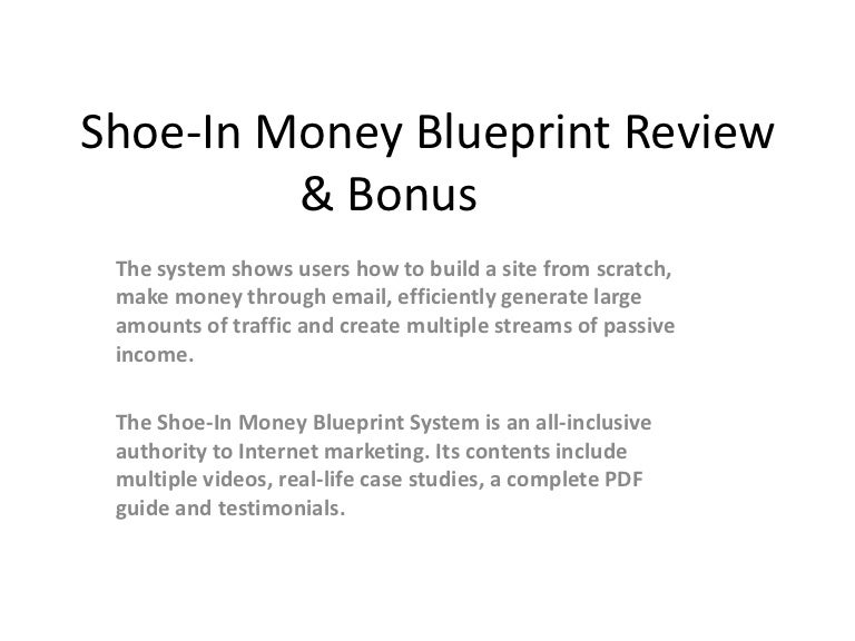 Shoe in money blueprint review bonus malvernweather Image collections