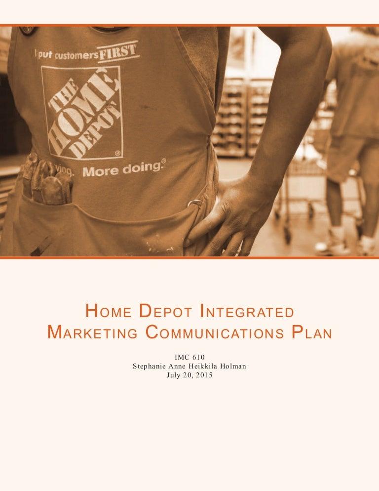 3aae59c4416 Home Depot Integrated Marketing Communications Plan - IMC 610