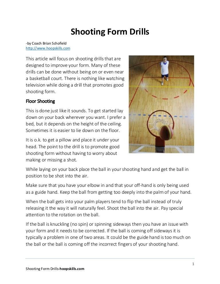 Basketball shooting form drills