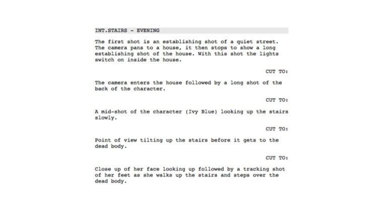 Shooting script powerpoint