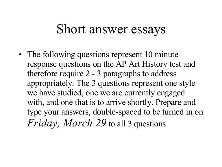 examples of short essay