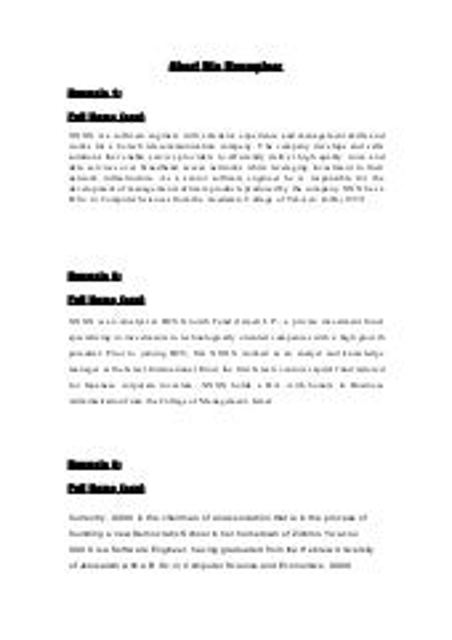 Short bio examples