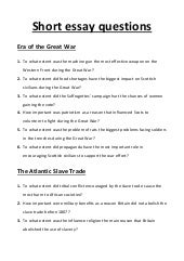 essay questions wwi