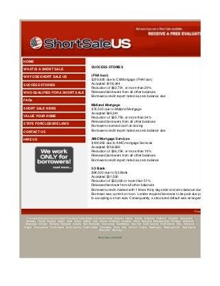 Short Sale Success Stories