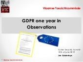 GDPR one year in: Observations