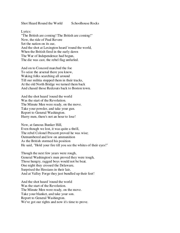 Lyric shot at the night lyrics : Shot heard round the world lyrics