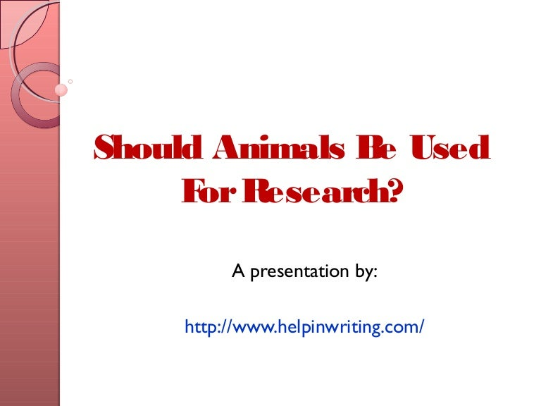 should animals be used for research