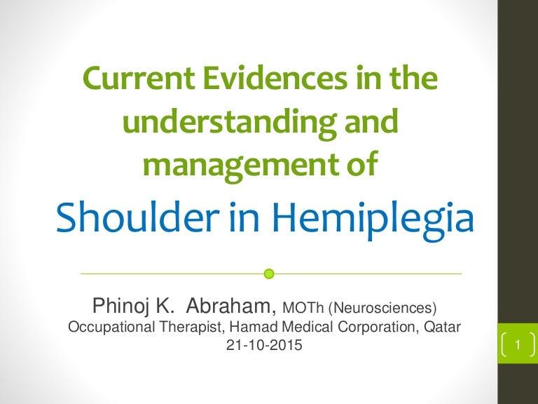 Shoulder in hemiplegia