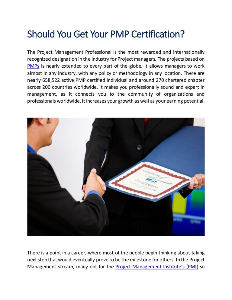Should You Get Your Pmp Certification