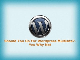 Should you go for WordPress Multisite …Yes why not