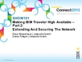 Connect 2013 - Making IBM Traveler High Available: Extending And Securing The Network
