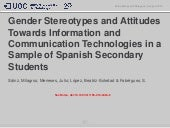 Gender Stereotypes and Attitudes Towards Information and Communication Technology Professionals in a Sample of Spanish Secondary Students
