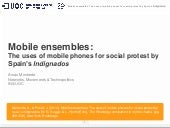 Mobile ensembles: The uses of mobile phones for social protest by Spain's indignados