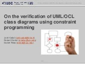 On the verification of UML/OCL class diagrams using constraint programming
