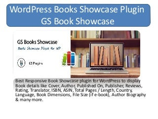 WordPress Books Showcase Plugin - GS Book Showcase