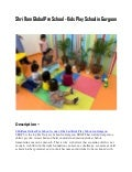 Shri ram global pre school   Kids Play School in Gurgaon